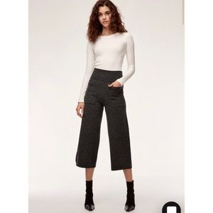 Aritzia Wilfred Brion Wide Leg Wool Cropped Pant